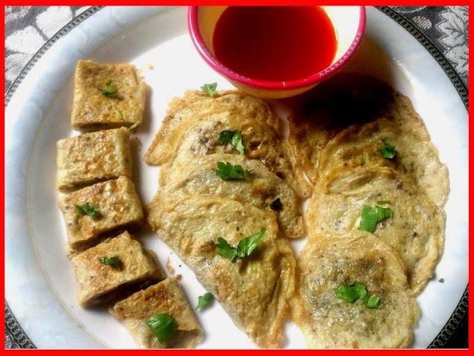 Making Chicken Filled Egg Sandwich Recipe