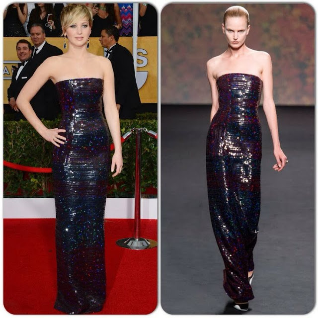 Jennifer Lawrence in Christian Dior Couture – 2014 SAG Awards