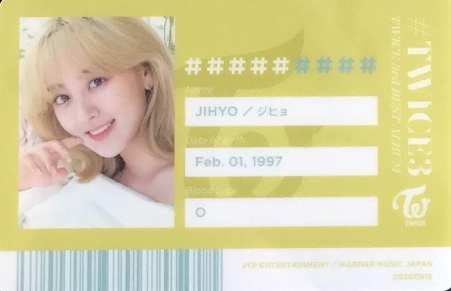 TWICE 3 Jihyo ID