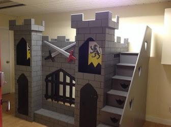 Habitación infantil de castillo