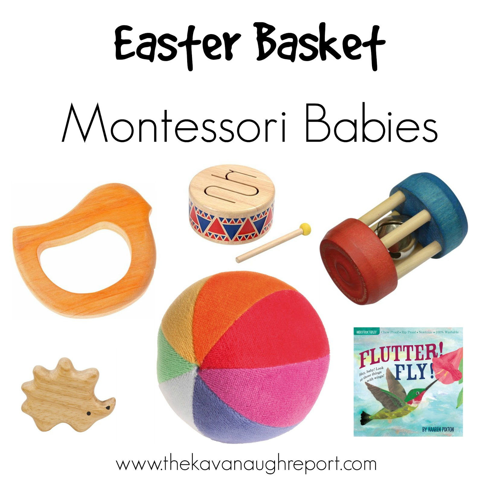 Easter baskets for montessori babies toddlers and preschoolers montessori friendly easter basket ideas for babies toddlers and preschoolers negle Images