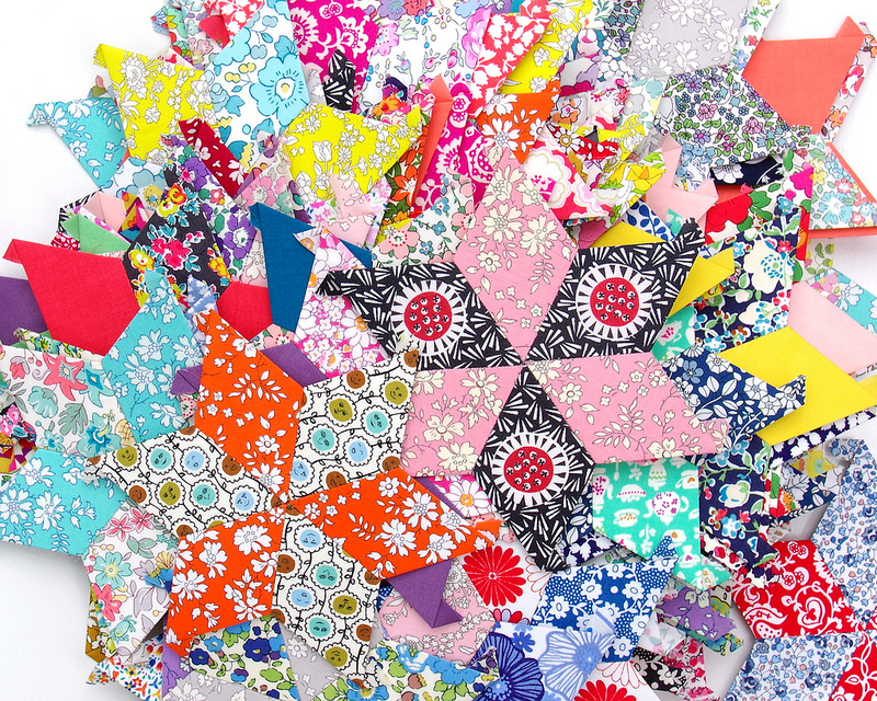 Liberty Stars Quilt - English Paper Piecing - Part 1 | © Red Pepper Quilts 2017