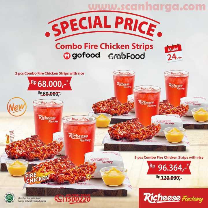 Promo Richeese Combo Fire Chicken Strips Harga Mulai Rp 68.000