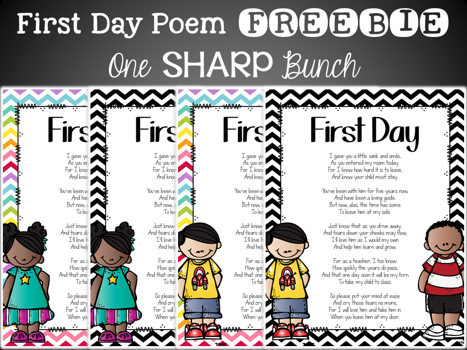 picture regarding Jitter Glitter Poem Printable named Initially Working day Of Higher education Poem Kindergarten - initial working day