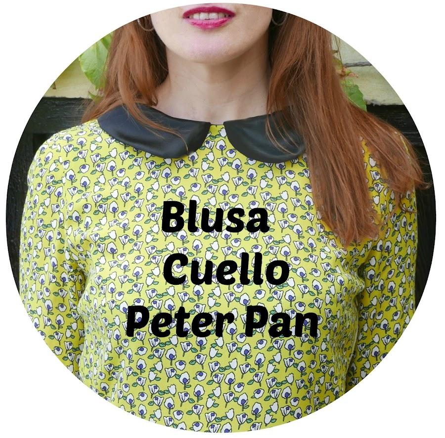 Blusa mujer cuello Peter Pan