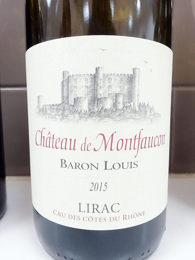 Château de Montfaucon Baron Louis Lirac 2015 (91 pts)