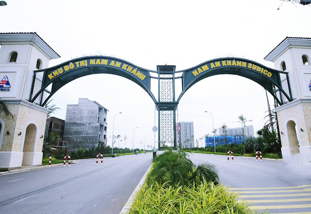 Phối cảnh đất dịch vụ khu đô thị Nam An Khánh