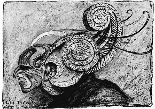 a Wladyslaw Theodor Benda drawing of a mask