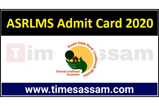 ASRLMS Admit Card 2020