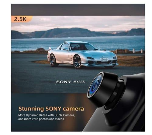 Van Top H612 IPS Full Touch Screen Mirror Dsah Cam