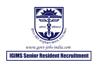 IGIMS Senior Resident Recruitment 2020