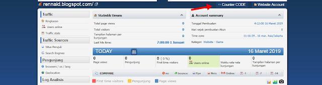 Cara Daftar dan Memasang Histats di Blogger
