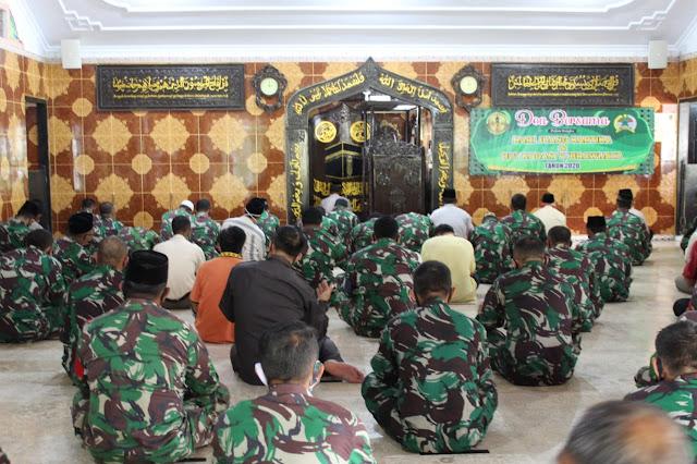 Kodim 0806/Trenggalek Gelar Doa Bersama Dalam Rangka Hari Juang Kartika dan HUT Ke 72 Kodam V/Brawijaya