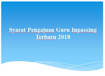Syarat Pengajuan Guru Inpassing Terbaru 2018