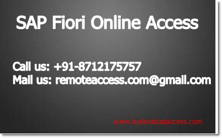 Fiori Online.Hyderabad Access Sap Fiori Online Access