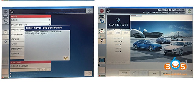 Logiciel Maserati MDVCI 2