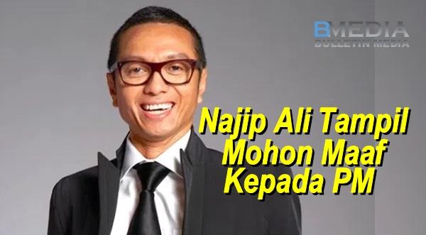 Najip Ali Tampil Mohon Maaf Kepada PM