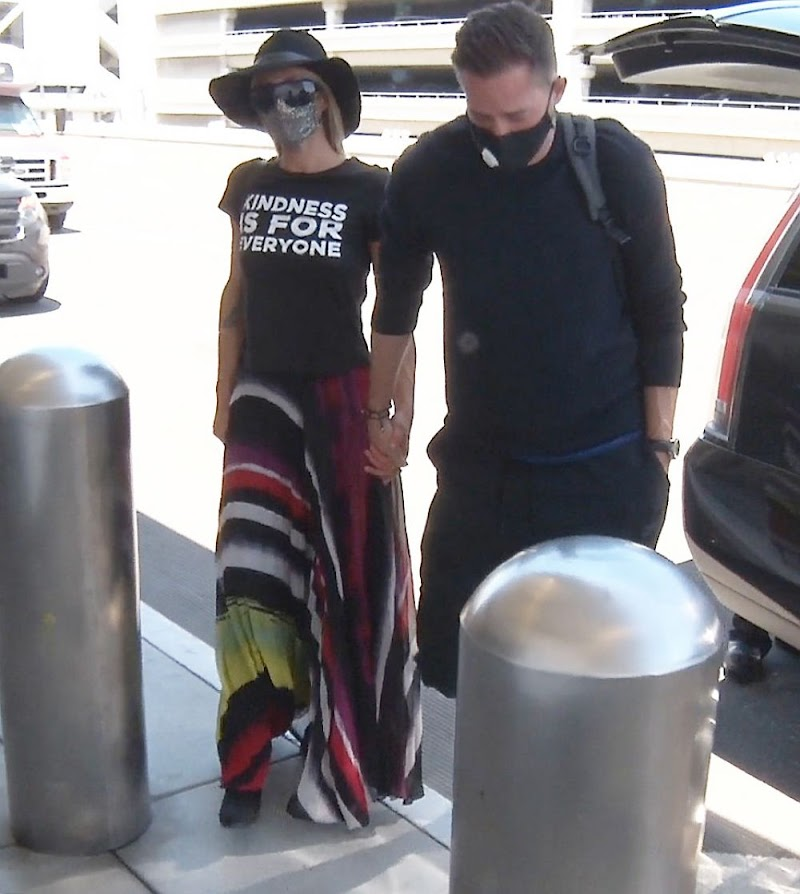 Paris Hilton and Carter Reum Spotted at LAX Airport in Los Angeles 11 Jun -2020