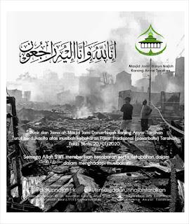 Takmir dan Jamaah Masjid Darun Najah Turut Berdukacita Atas Musibah Kebakaran di Pasar Batu Sebengkok Tarakan 20200120 - Kajian Islam Tarakan