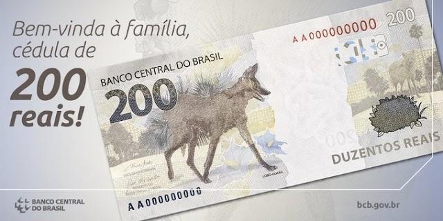 ECONOMIA: Nota de R$ 200 entra em circulação nesta quarta