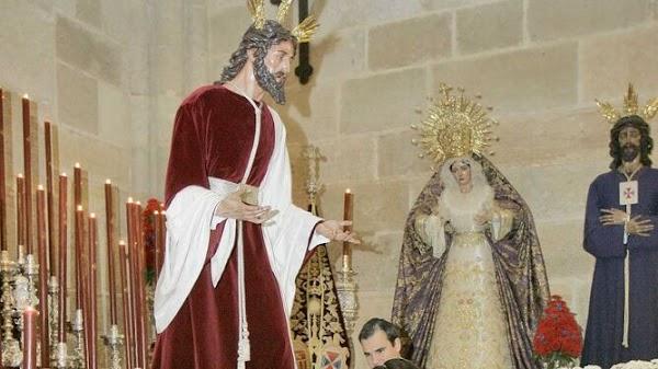 La Hermandad del Prendimiento de Almería celebra sus cultos a puerta cerrada