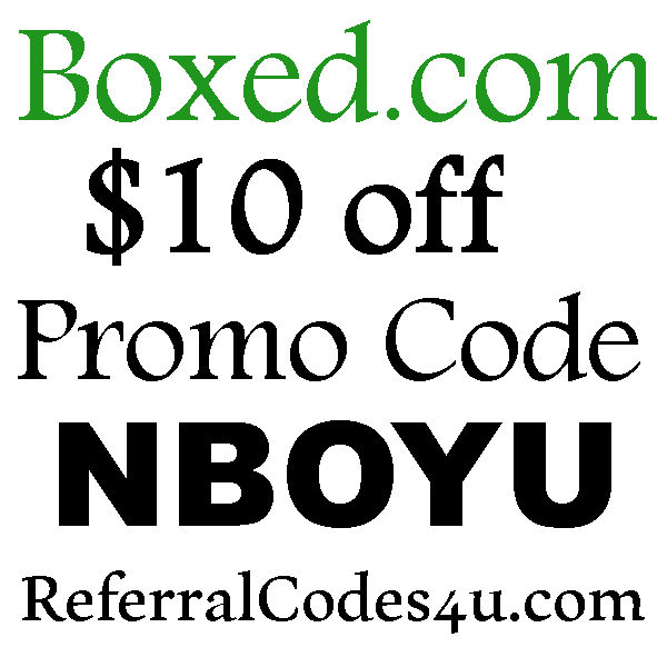 Boxed FREE Shipping Coupon 2020, Boxed Refer A Friend, Boxed Coupon June, July, August