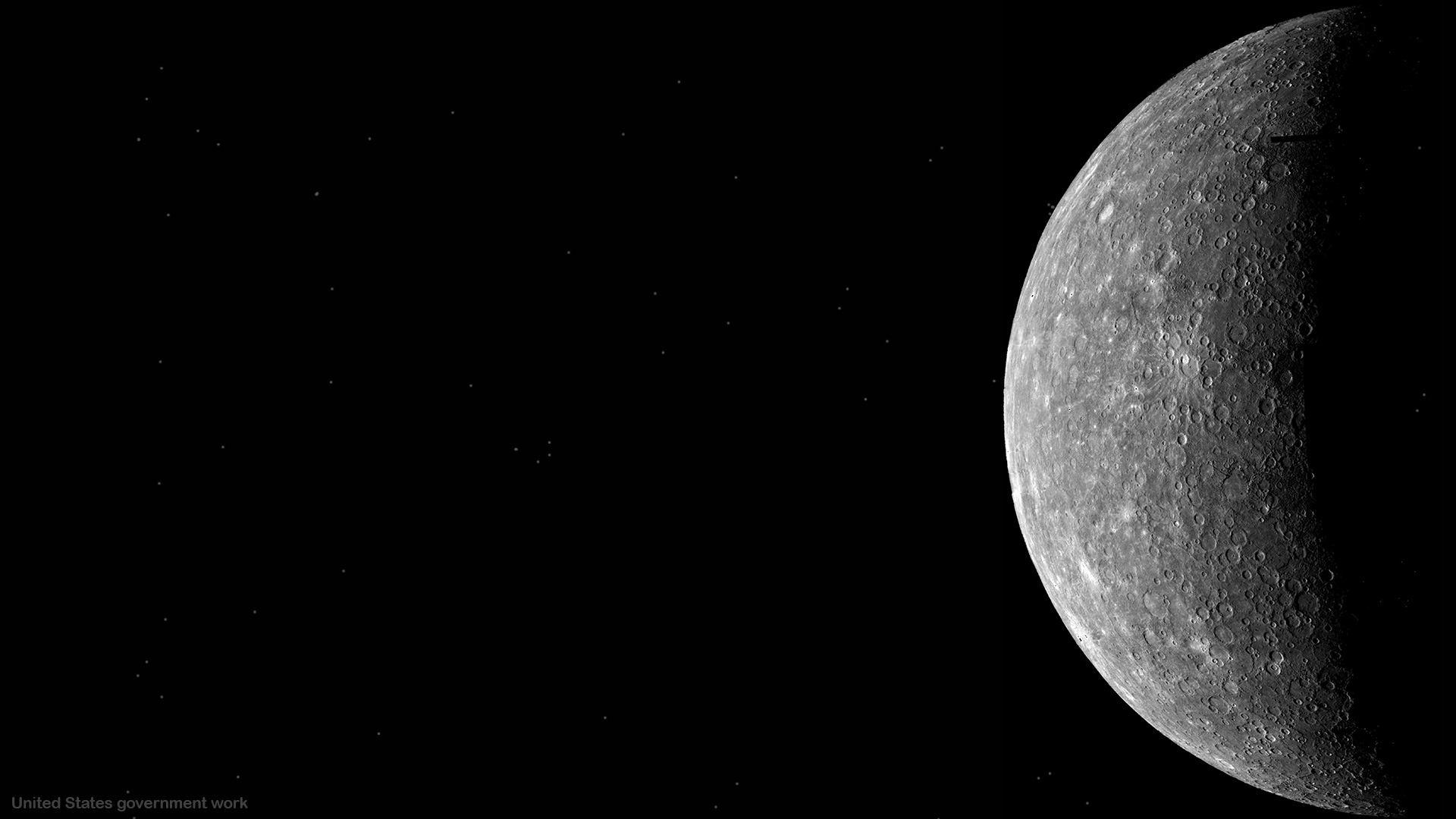 Mercury Planet with Black Background