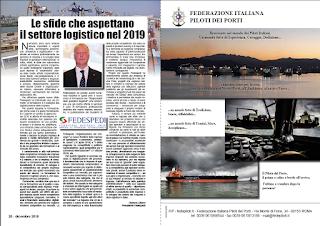 DICEMBRE 2018 PAG. 20 - Le sfide che aspettano il settore logistico nel 2019