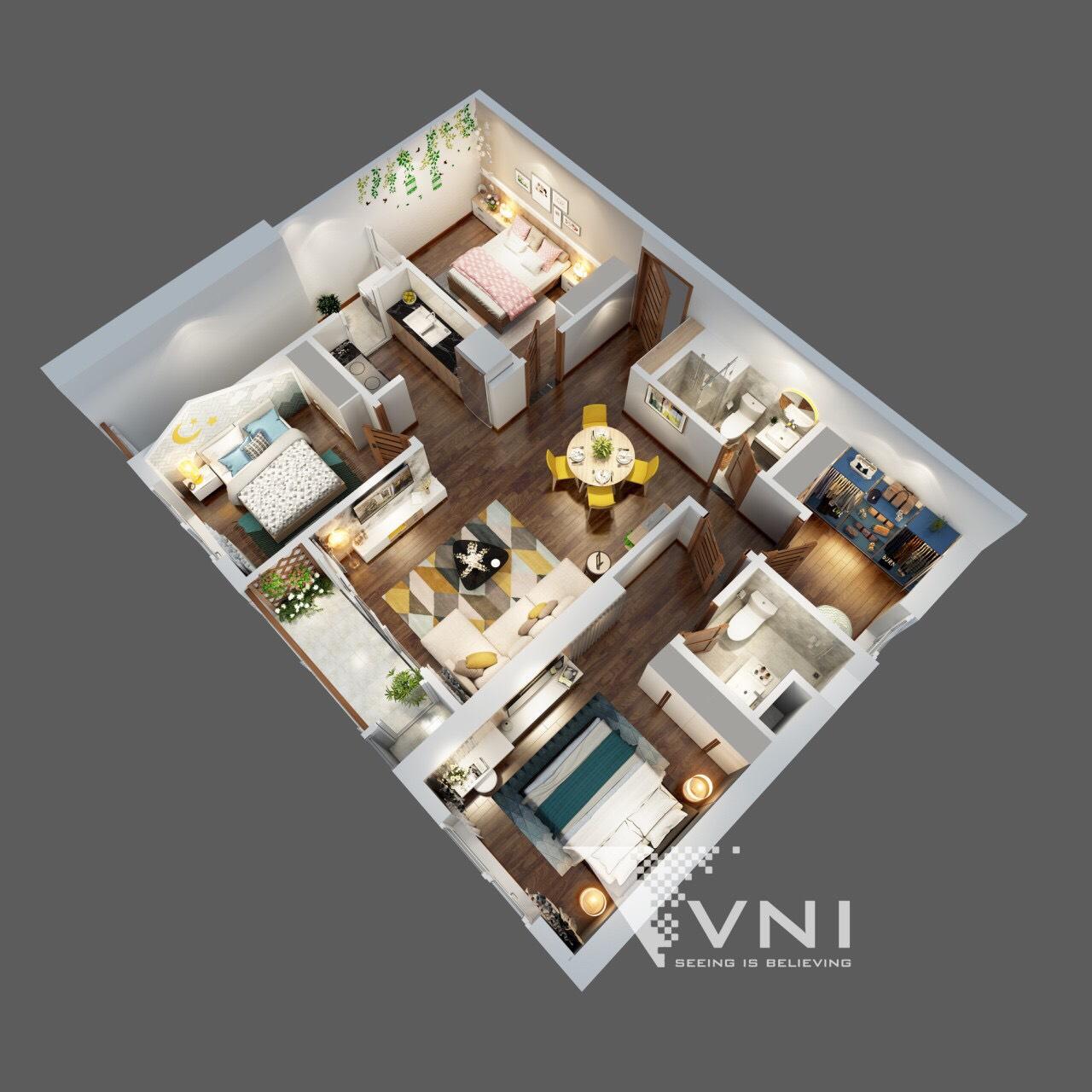 Mẫu thiết kế căn hộ The Terra An Hưng