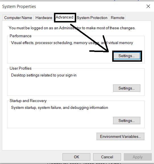 Optimize Visual Effect in Windows 10.