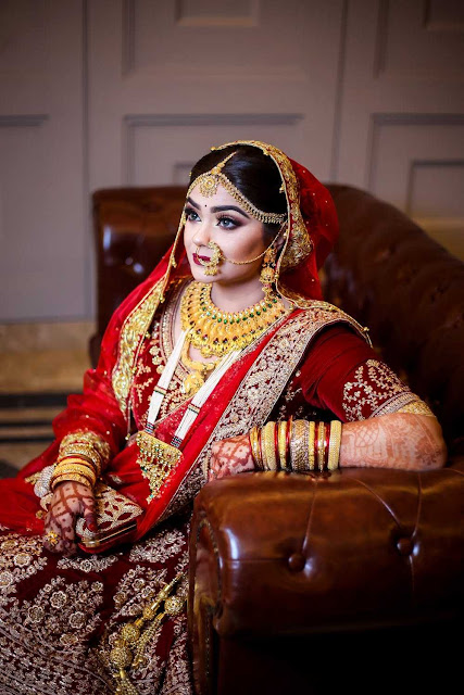 Beautiful bridal makeup photo