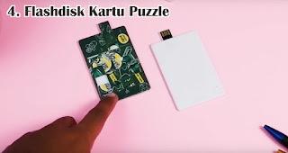 Flashdisk Kartu Puzzle merupakan salah satu jenis flashdisk kartu untuk dijadikan souvenir