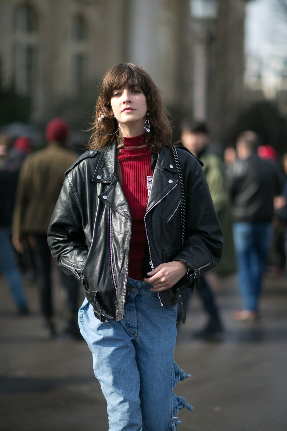 Street Style: Cristina Herrmann's '90s Biker Look