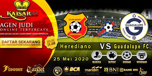 prediksi Bola Terpercaya Liga Costa Rica Herediano vs Guadalupe FC 25 Mei 2020