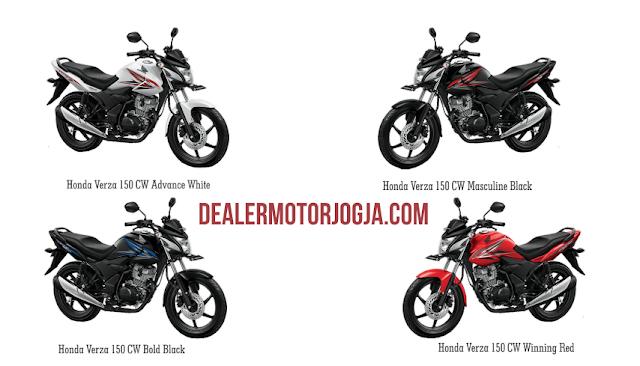 Honda Verza 150 CW hadir dalam 4 pilihan warna