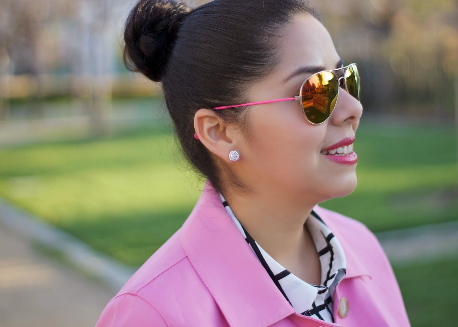 ASJewelry earrings, forever21 pink sunglasses