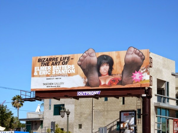 Bizarre life Art of Elmer Batters Taschen Gallery billboard