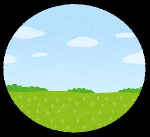 緑内障の視界のイラスト1