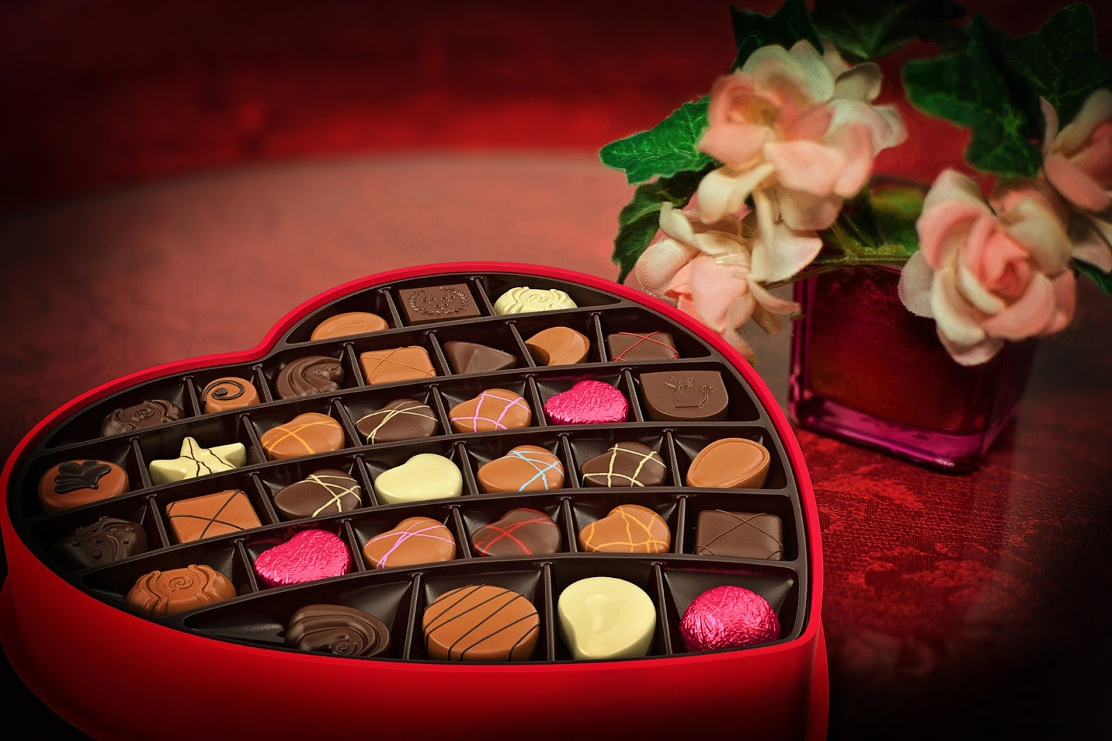 Valentine's Day Chocolates Candy Heart Love image