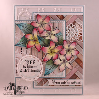 Our Daily Bread Designs Stamp Set: Sweet As Perfume, Paper Collection: Romantic Roses, Custom Dies: Pierced Rectangles, Double Stitched Rectangles, Flower Lattice, Scalloped Chain, Fancy Circles, Pennant Flags