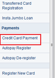 HDFC Credit Card Bill Payment