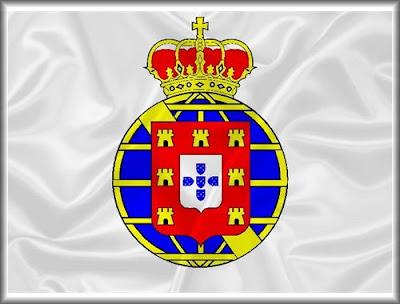 Foto da Bandeira do Reino Unido de Portugal, Brasil e Algarves que vigorou entre  1816 e 1821