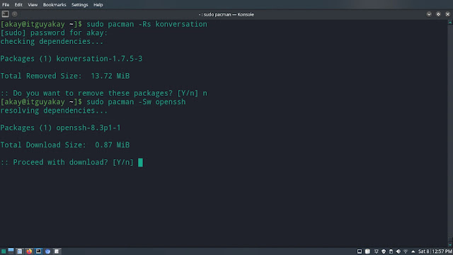 pacman package download  command