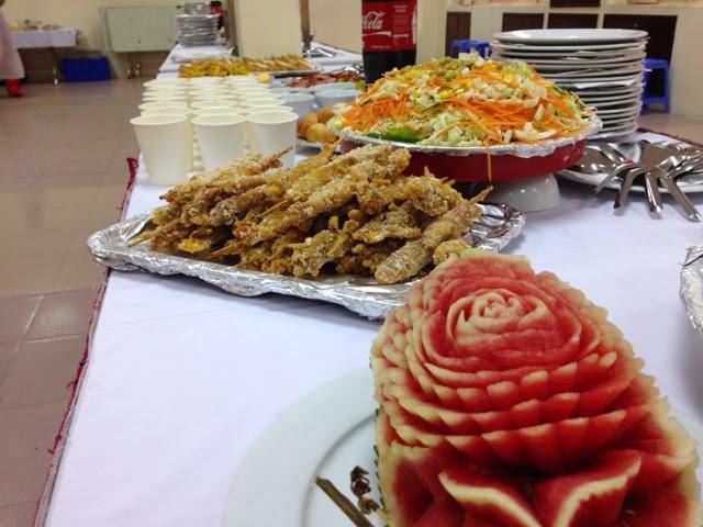 Tiệc Buffet 300 khách tại Học Viện Thanh Thiếu Niên
