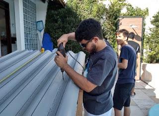 Estudantes de escola na Paraíba criam sistema que filtra e desinfecta água da chuva