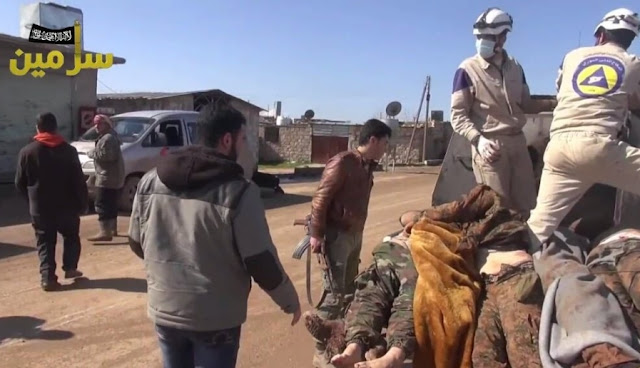 A local Jabhat al-Nusra media network from Sarmin, Idlib frequently features the White Helmets. The same network also shows Jabhat al-Nusra fighters in ...