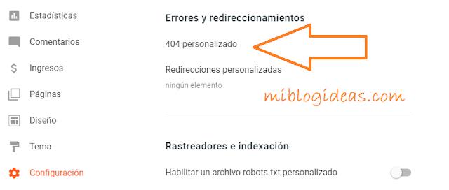 """Redireccionar página de """"Error 404"""" a la pagina principal en Blogger"""