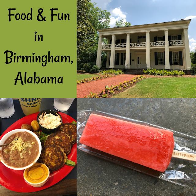 My Day of Food and Fun in Birmingham, Alabama! Enjoy an antebellum home tour, popsicles, cupcakes, seafood and so much more!