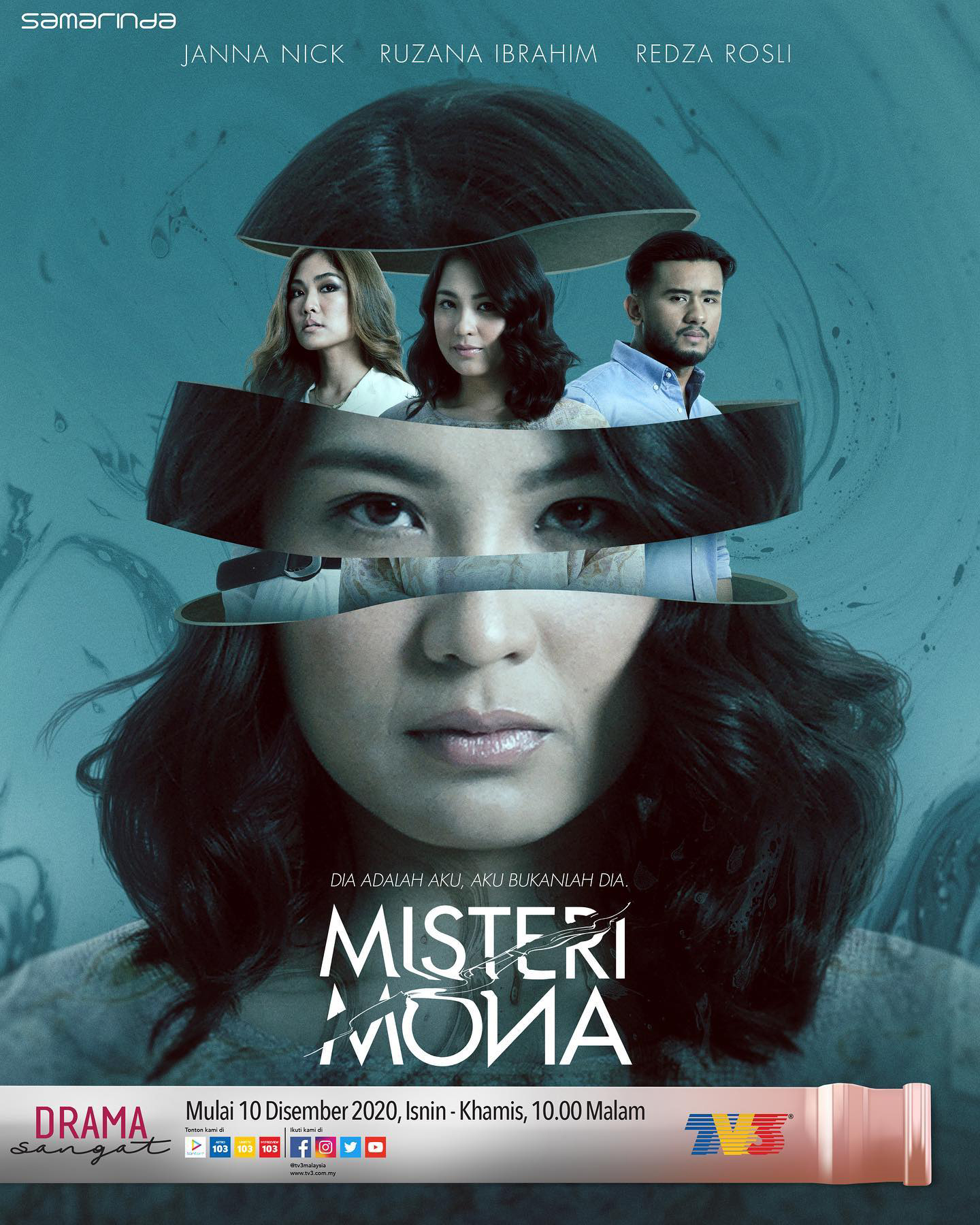 Drama Misteri Mona Episod 1-8 (Akhir) Lakonan Janna Nick dan Redza Rosli