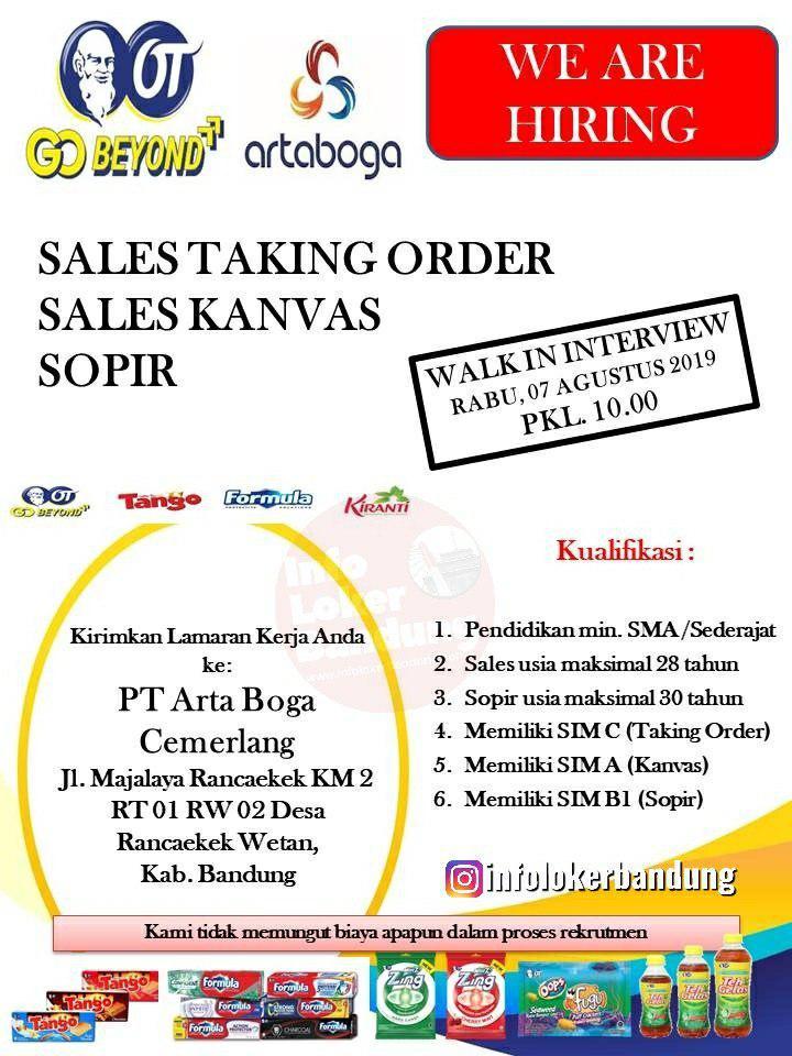 Lowongan Kerja PT. Arta Boga Cemerlang Rancaekek & Banjaran Bandung (Walk In Interview)Agustus 2019